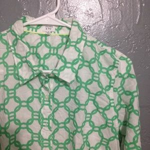 Crown and Ivy Printed Button Down Shirt